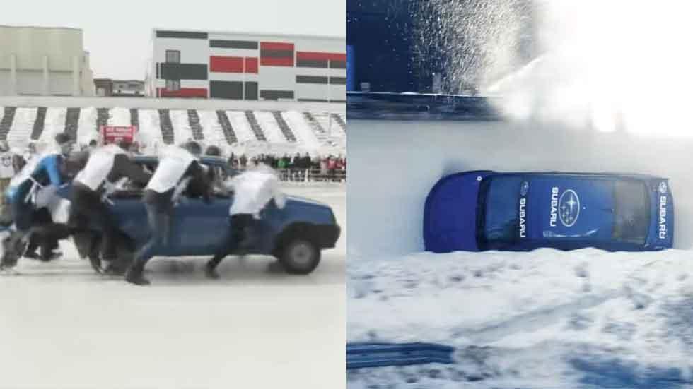 Lo último en deportes con coches: curling y bobsleigh sobre ruedas (vídeos)