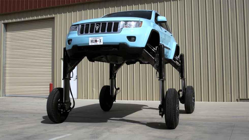 Hum Rider: el coche anti-atascos que pasa por encima (vídeo)