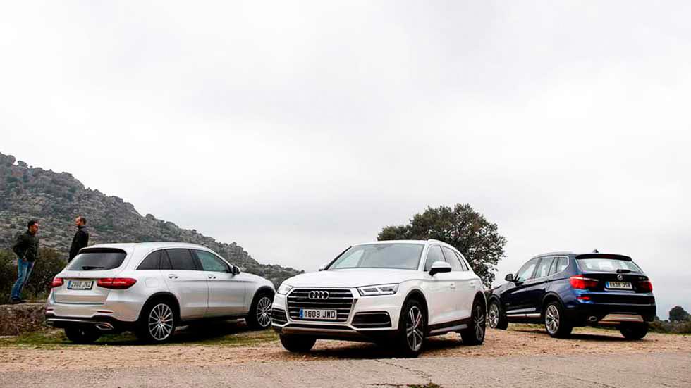 Audi Q5, BMW X3 y Mercedes GLC: ¿cuál es mejor SUV?