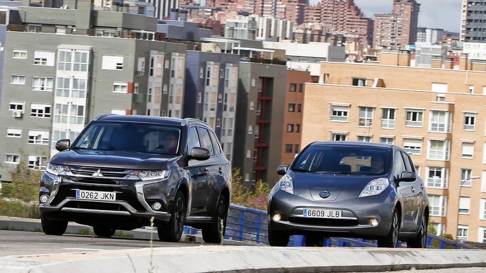 Mitsubishi Outlander PHEV vs Nissan Leaf: duelo de conceptos eléctricos