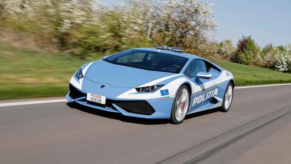 Un nuevo Lamborghini Huracán como coche policía