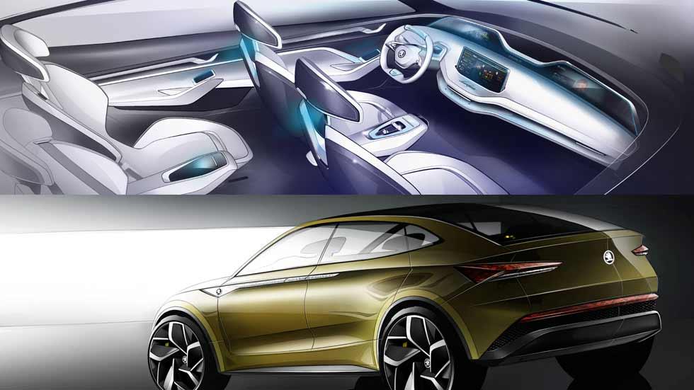 Skoda Vision E Concept: así será el interior de los futuros Skoda