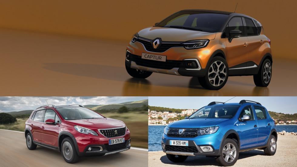 Dacia Sandero Stepway, Renault Captur y Peugeot 2008, ¿cuál interesa?