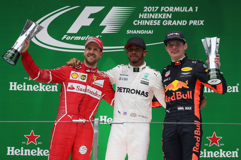 Gran Premio de China de F1: Victoria de Hamilton
