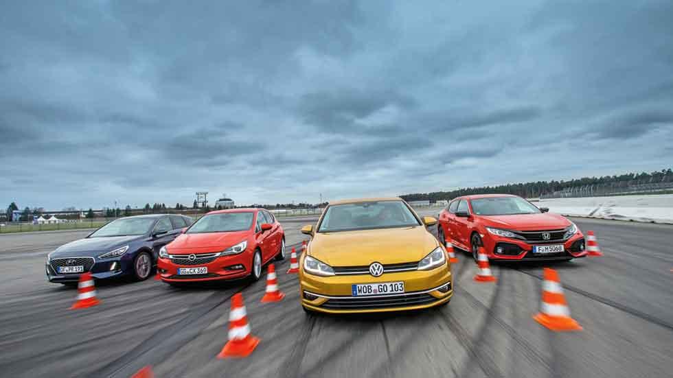 Nuevo Honda Civic frente a Hyundai i30, Opel Astra y VW Golf