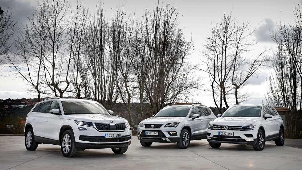Seat Ateca, VW Tiguan y Skoda Kodiaq: ¿qué SUV Diesel es mejor?