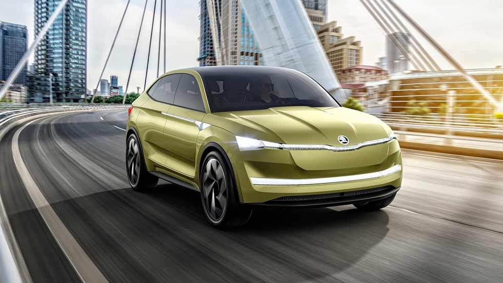 """Skoda Vision E Concept: """"conducimos"""" el SUV eléctrico de Skoda..."""
