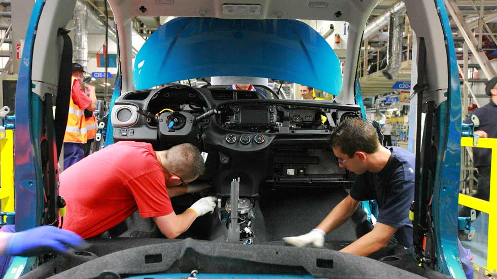 La producción de coches en España sigue creciendo