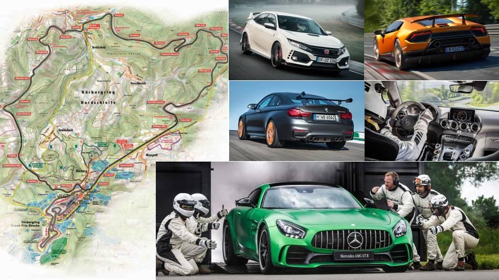 Los 100 coches más rápidos del mundo en Nürburgring (ránking y vídeo)