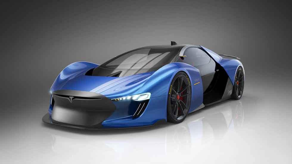Un diseñador español crea el superdeportivo de Tesla del futuro