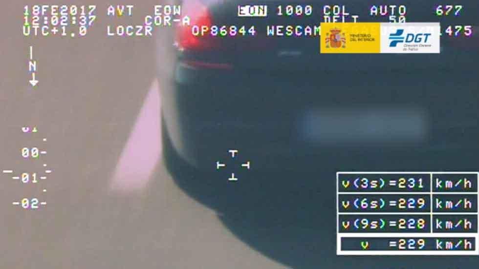 Última campaña de velocidad de la DGT: cazados a más de 200 km/h (vídeo)