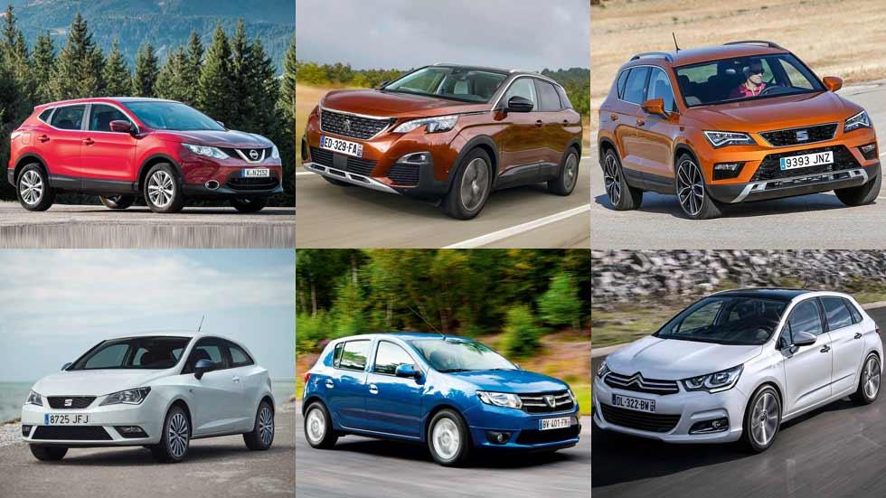 Los 10 coches y los 10 SUV más vendidos en abril