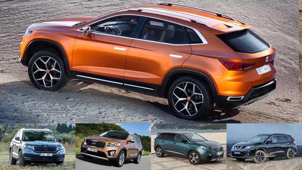 El nuevo Seat Álora y sus rivales SUV de 7 plazas