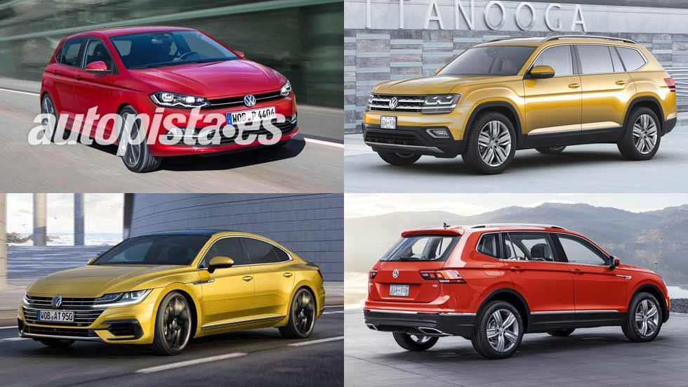 El calendario de coches y SUV nuevos de Volkswagen en 2017