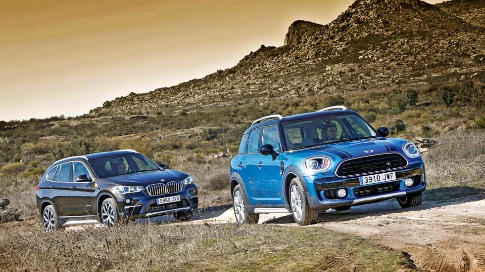 """BMW X1 vs Mini Countryman: comparativa entre """"hermanos"""" SUV"""
