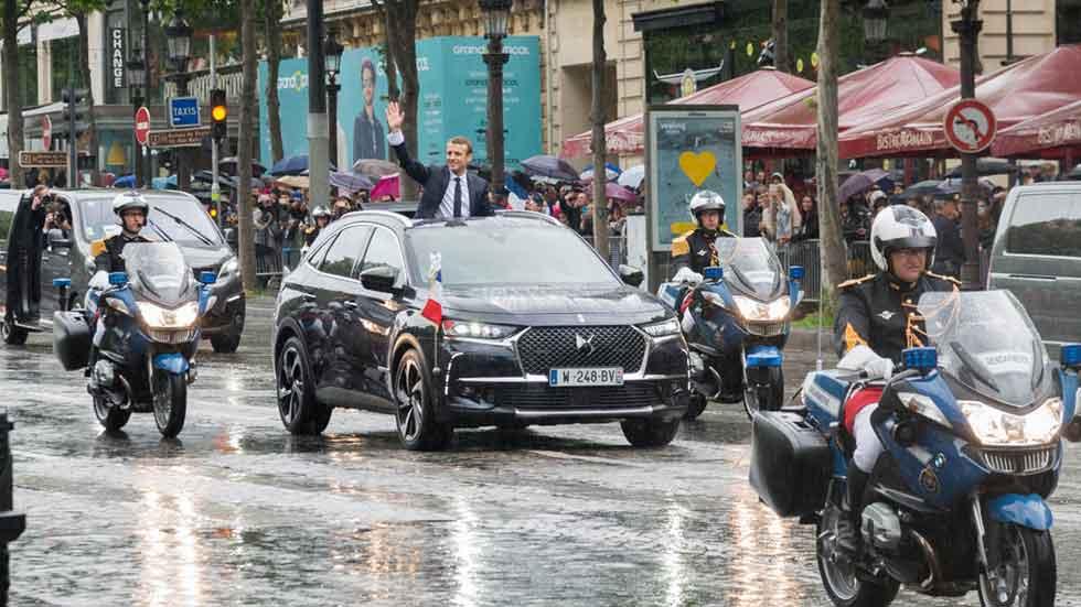DS 7 Crossback: el coche del Presidente de Francia