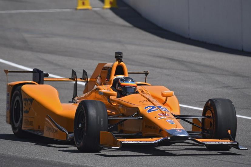 500 Millas de Indianapolis: Alonso volvió a rodar el lunes