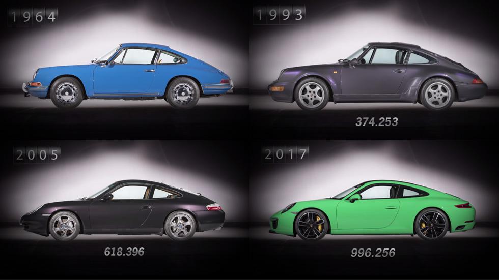 Las 7 generaciones del Porsche 911, en vídeo