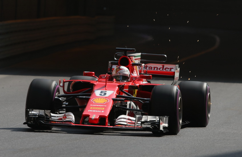 GP de Mónaco de F1: Sebastian Vettel vuela en Mónaco