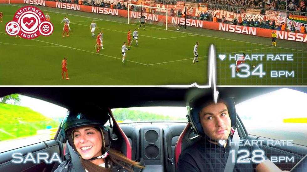 Fútbol o Nissan GT-R en circuito: ¿qué quita más la respiración? (vídeo)