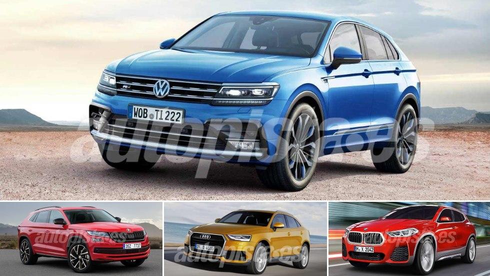 El nuevo Volkswagen Tiguan Coupé y sus futuros rivales SUV