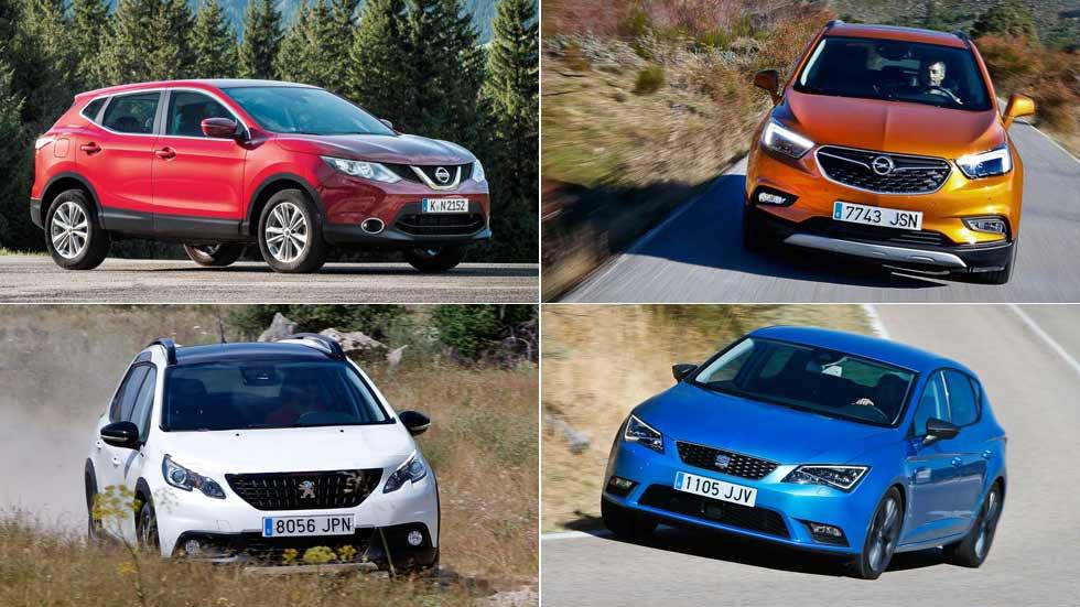 Los 10 coches y los 10 SUV más vendidos del momento