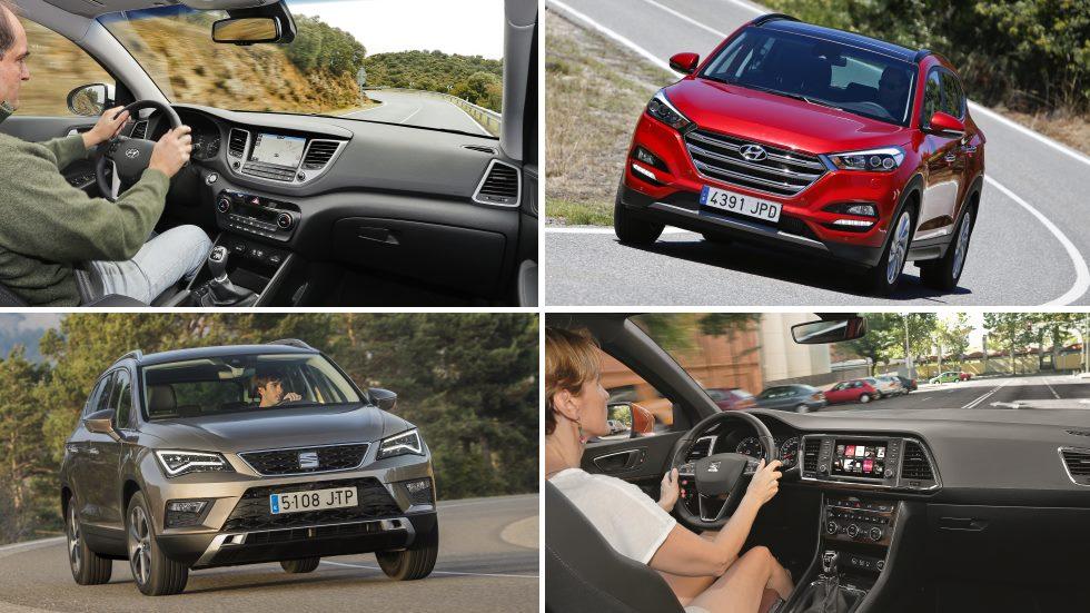 Hyundai Tucson 1.7 CRDi vs Seat Ateca 1.6 TDI, ¿qué SUV Diesel es mejor?