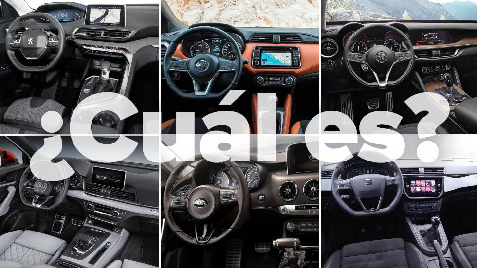 Juega: ¿sabrías a qué coches pertenecen estos interiores?