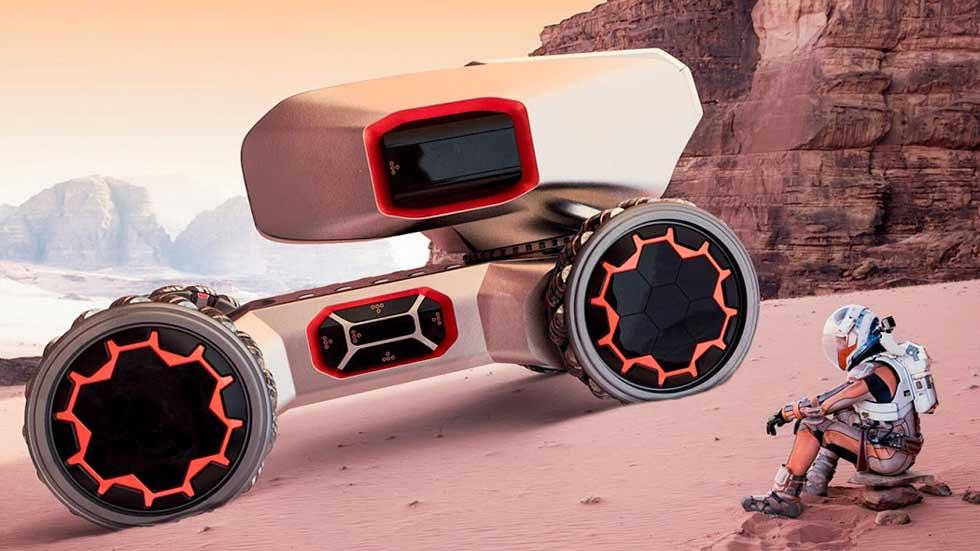 Lamborghini muestra un todoterreno para colonizar Marte