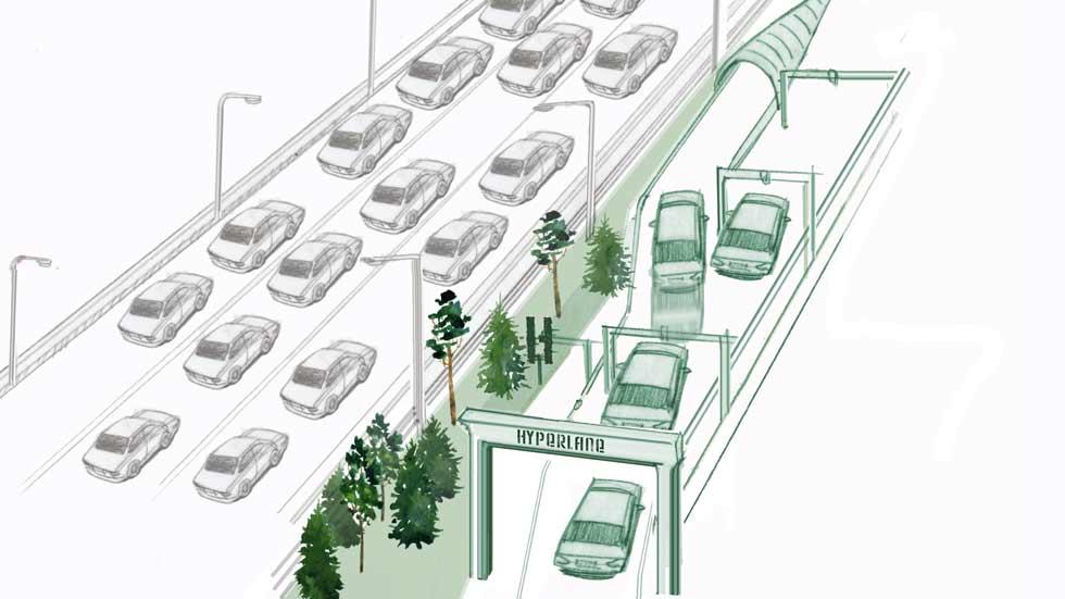 Hyperlane: el carril de alta velocidad para coches autónomos