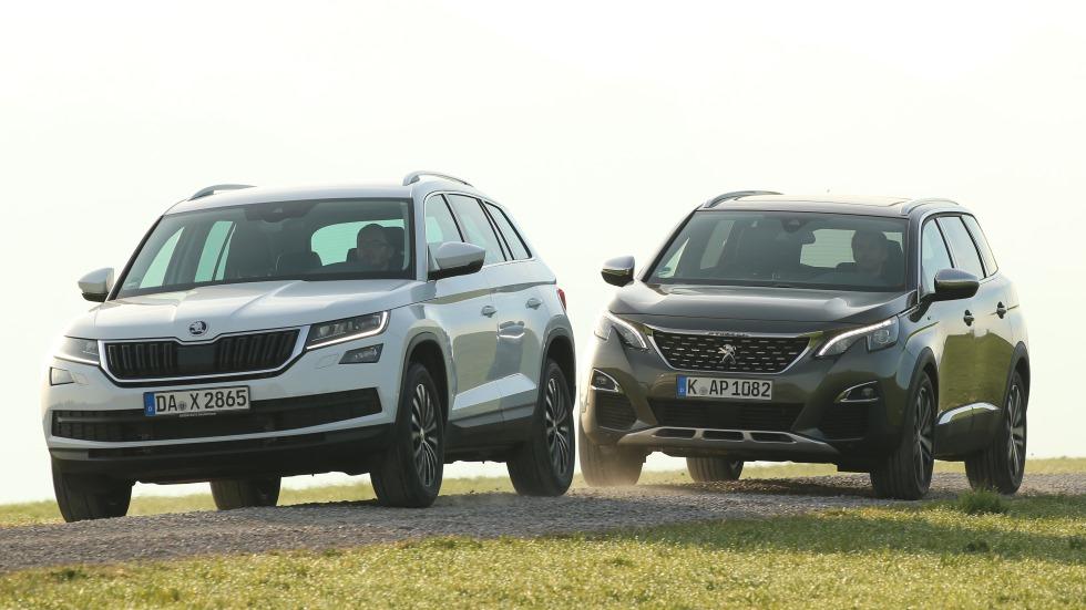 Peugeot 5008 2.0 BlueHDI vs Skoda Kodiaq 2.0 TDI: ¡grandes SUV!