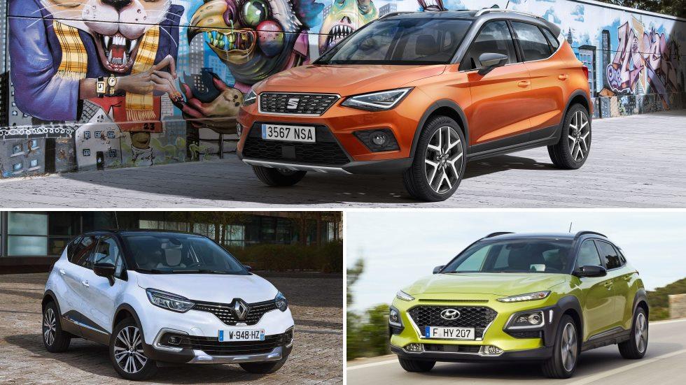 Seat Arona, Hyundai Kona y Renault Captur: en busca del mejor SUV (vídeos)
