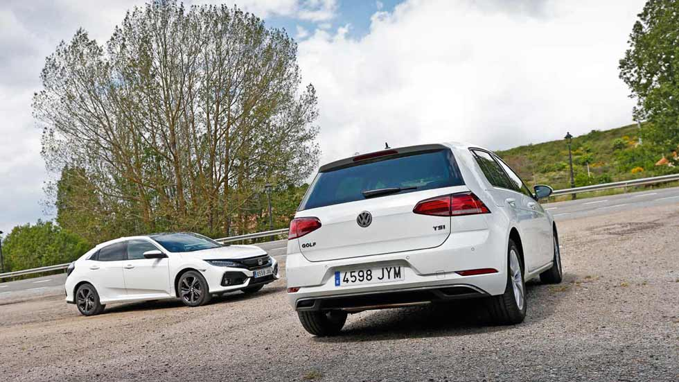 Revista Autopista 3.015: VW Golf 1.0 TSI vs Honda Civic 1.0 Turbo VTEC