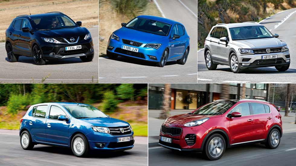 Los 10 coches y los 10 SUV más vendidos en lo que va de año