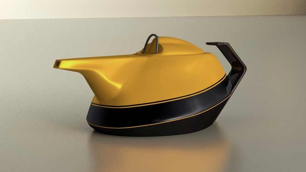 Así es la tetera con los colores del Renault de Fórmula 1