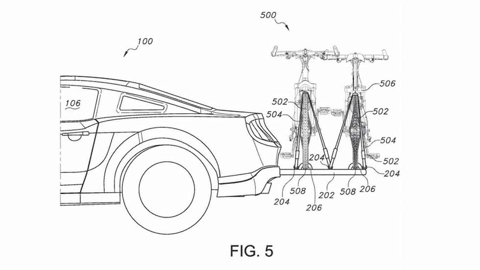 Ford patenta un sistema retráctil para transportar bicicletas