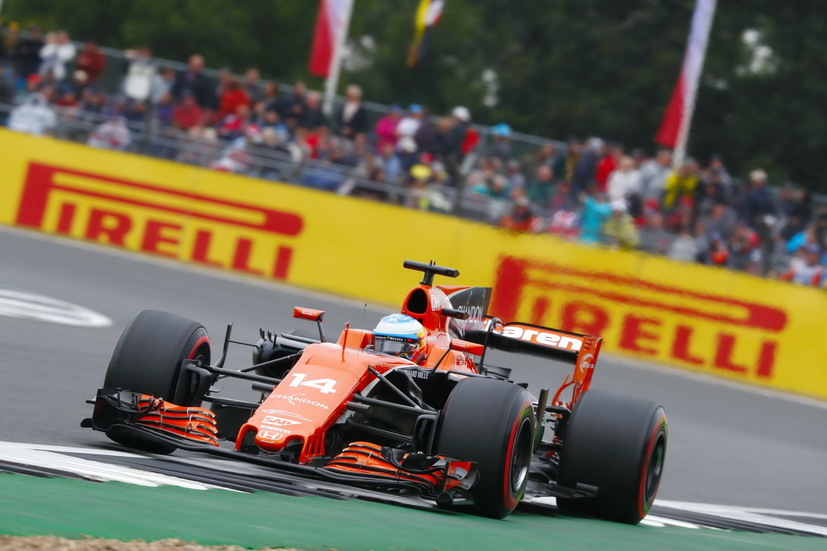 GP de Gran Bretaña de F1: Alonso marcó el mejor tiempo en la Q1