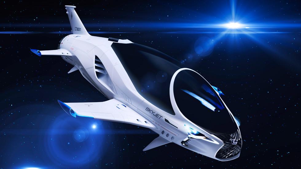 """Lexus y su nuevo Skyjet, en la película """"Valerian y la ciudad de los mil planetas"""""""