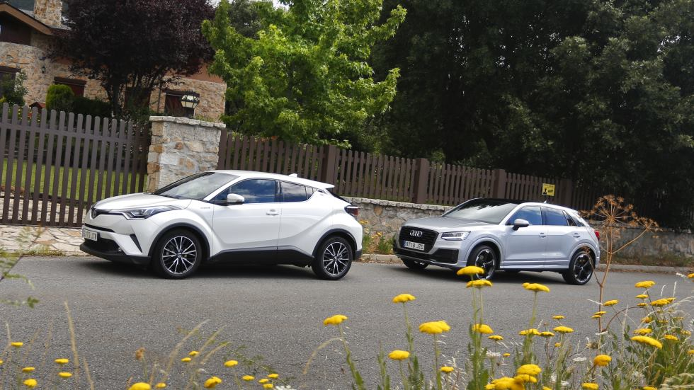 Toyota C-HR vs Audi Q2: ¿cuál es mejor SUV? ¿Híbrido o gasolina?