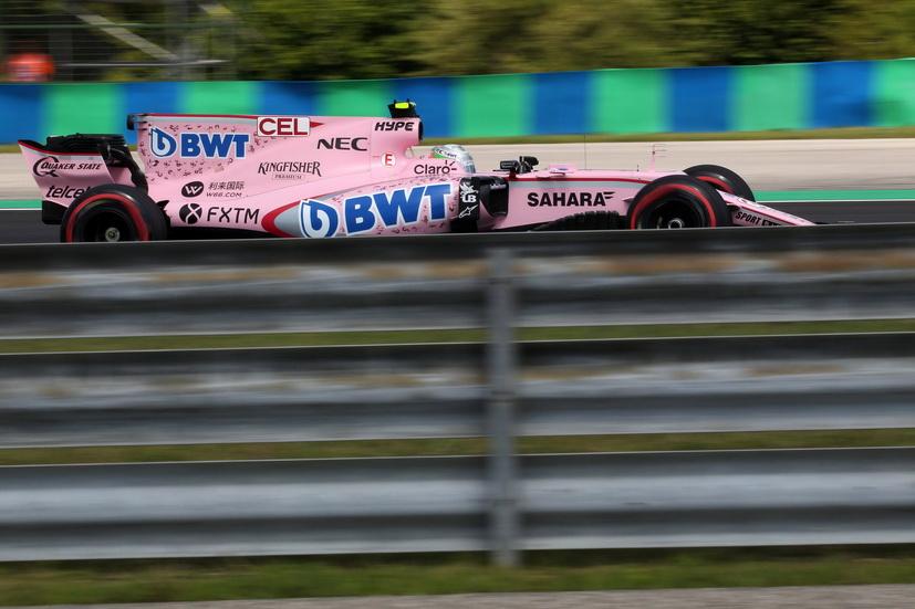 GP de Hungría de F1: Celis pilotó el Force India por la mañana