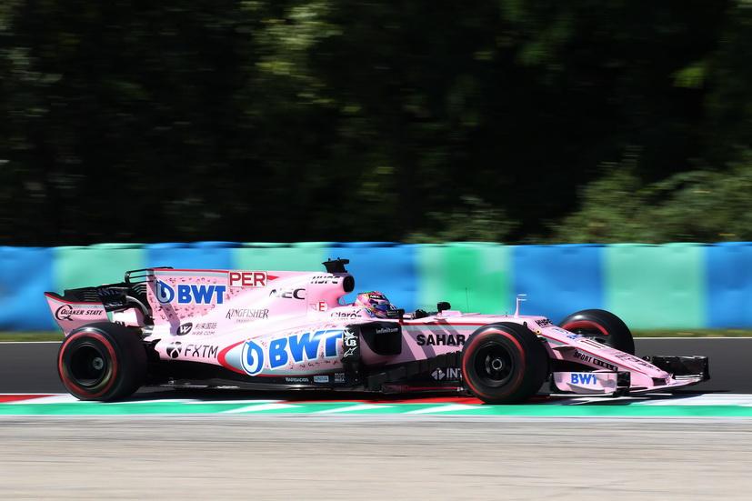 GP de Hungría de F1: Pérez fue duodécimo en las dos sesiones