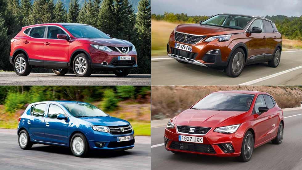 Los 10 coches y los 10 SUV más vendidos en julio