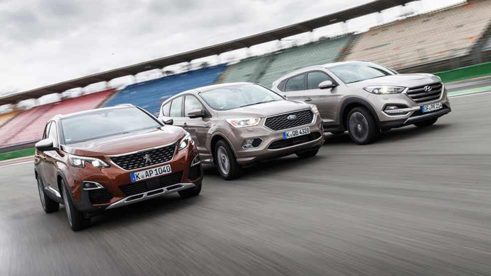 Peugeot 3008, Hyundai Tucson y Ford Kuga: ¿qué SUV es mejor?
