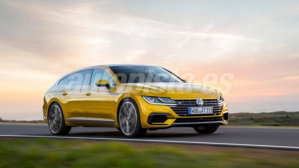 El nuevo VW Arteon Shooting Brake, en 2019: primeros datos y fotos