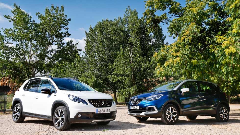 Peugeot 2008 BlueHDI 120 vs Renault Captur dCi 110. ¿Qué SUV es mejor?