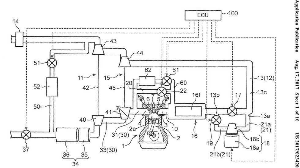 ¡Otra patente de Mazda! Un Twin-Turbo con sobrealimentación eléctrica