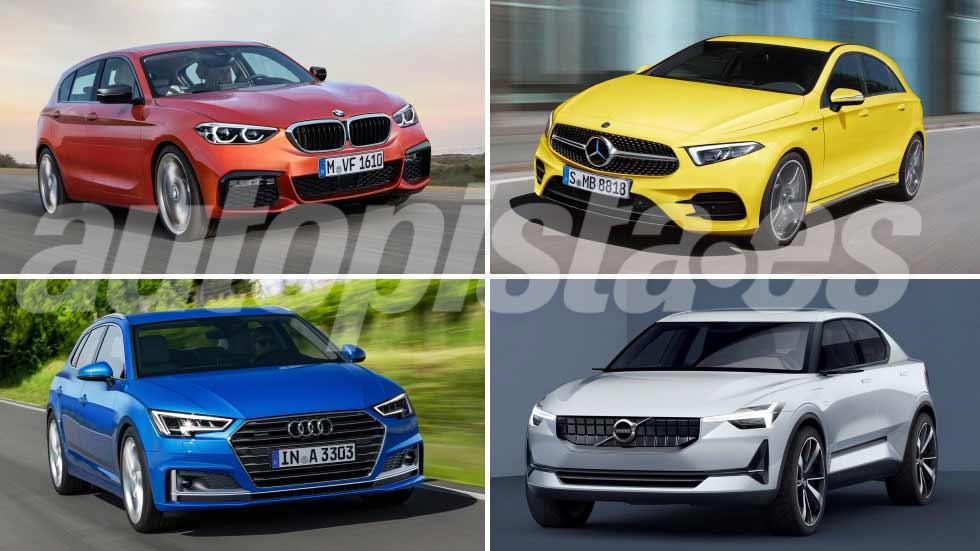 Los compactos que vienen: Audi A3, BMW Serie 1, Clase A y V40