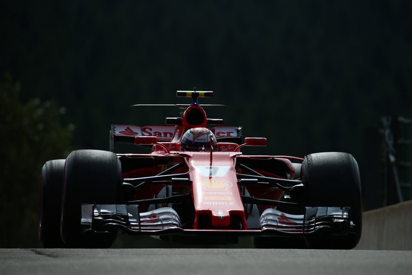 GP de Bélgica: Raikkonen lidera los tiempos por la mañana