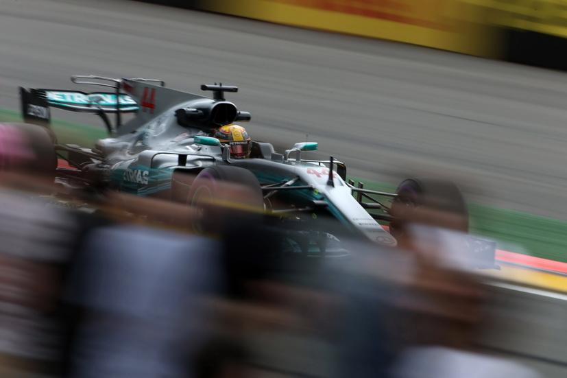 GP de Bélgica: Hamilton, el más rápido por la tarde
