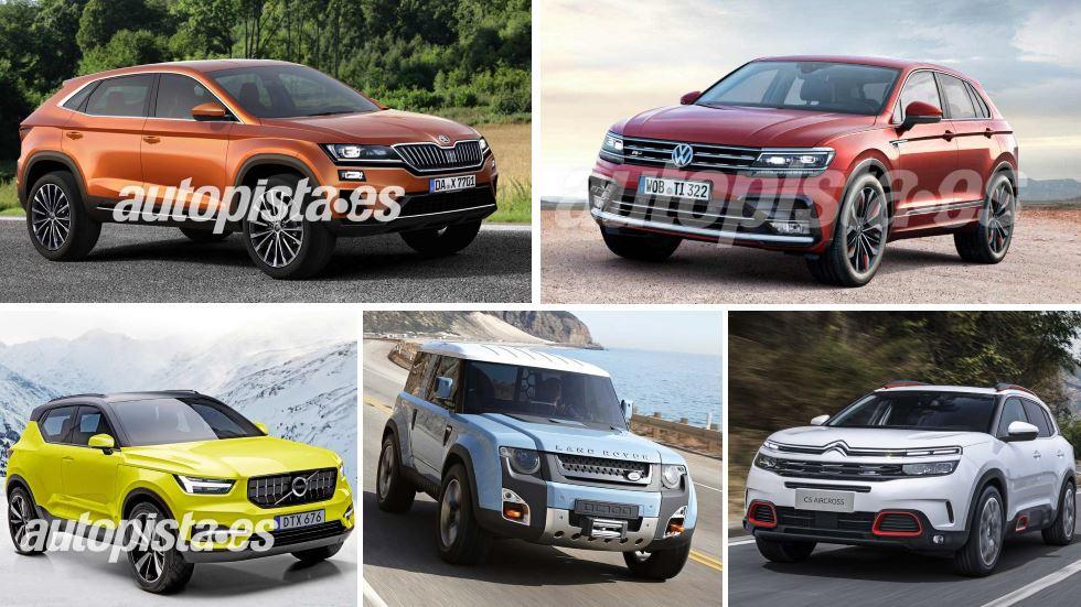 Todos los SUV que llegarán al mercado en 2018 y 2019